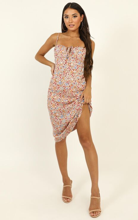 Slow Rush Dress in Multi Floral