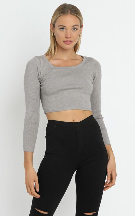 Marsha Knit Top in Grey
