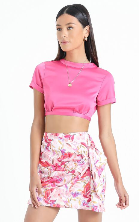 Becky Mini Skirt in Eventful Bloom