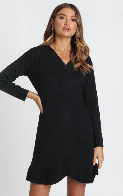 Timeless Glam Knit Dress in black - 12 (L), Black, hi-res image number null