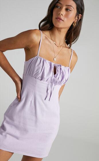 Break Free With Me Dress in Lilac Linen Look