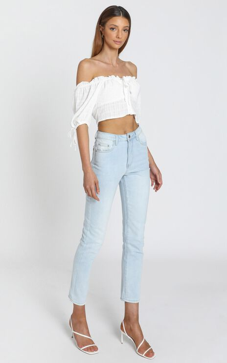 Carmen Bardot Top in White