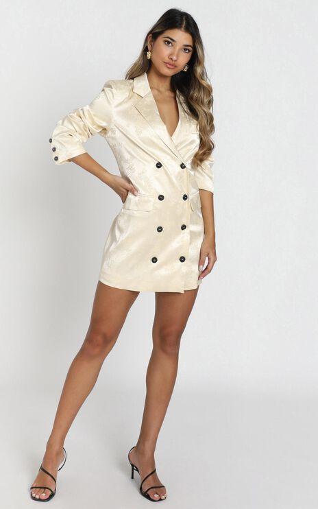 Lioness - Moulin Rouge Blazer Dress in Cream