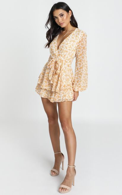Monique Playsuit in yellow floral - 12 (L), Yellow, hi-res image number null
