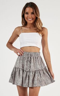 Devoted To You Skirt In Leopard Print