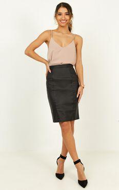 Missing Merit Skirt In Black leatherette