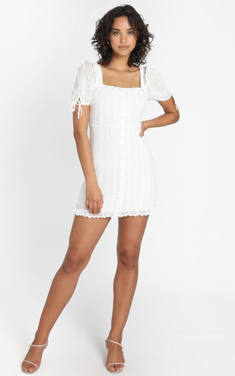 Tegan Dress in White