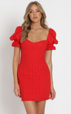 Anders Mini Dress in Red