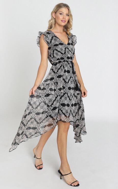 Genevieve Dress in Black Print
