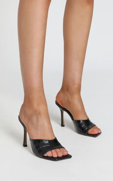 Tony Bianco - Bosco Heels in Black Croc