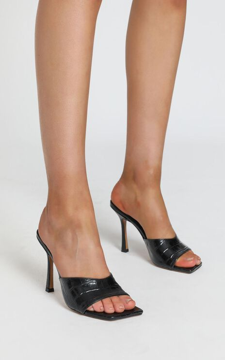 Tony Bianco - Bosco Heels in Black Croc