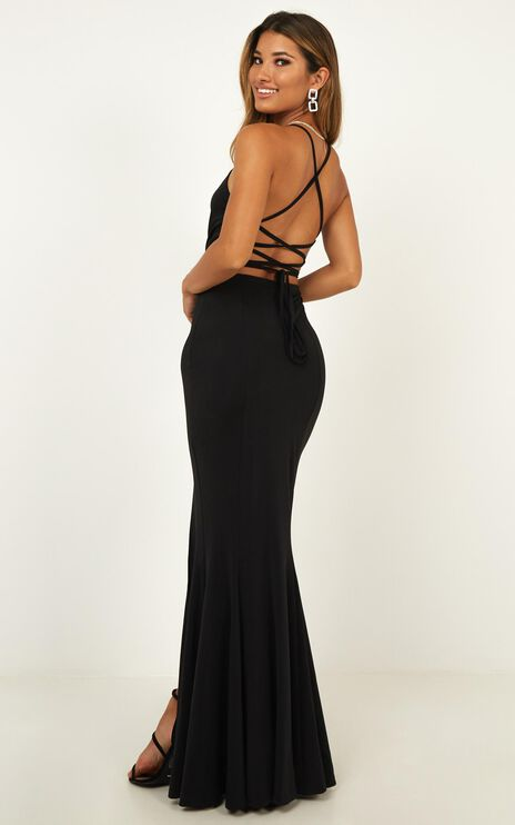 Storm Soul Maxi Dress In Black
