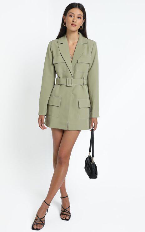 Lioness - Steinway Mini Dress in Sage