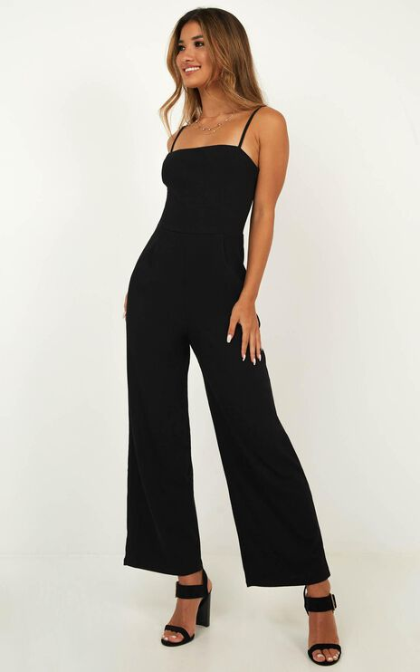 All Good Feels Jumpsuit In Black