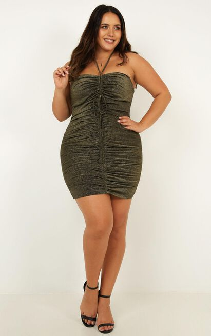 Become the night dress in black metallic - 18 (XXXL), Black, hi-res image number null