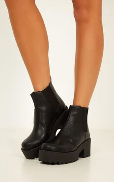 Lipstik - Eamon Boots In Black
