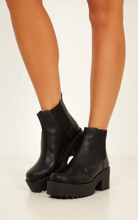 Lipstik - Eamon Boots In Black