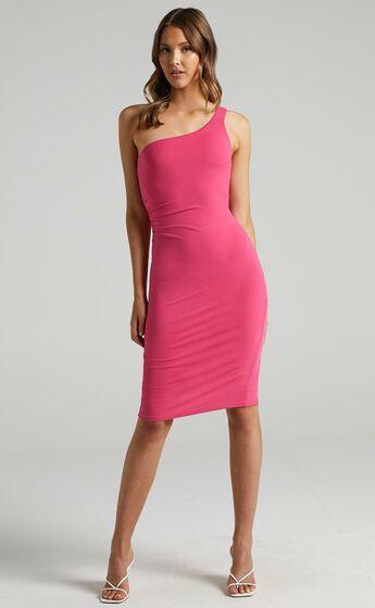 Got Me Looking Dress in Bubblegum Pink
