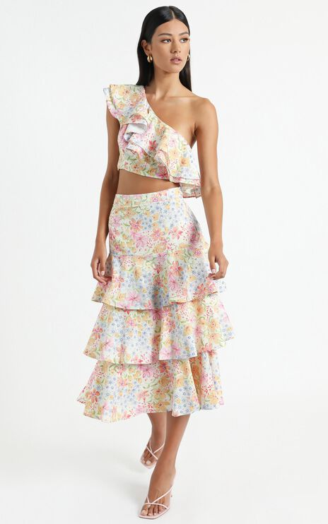 Provence Skirt in Multi Floral