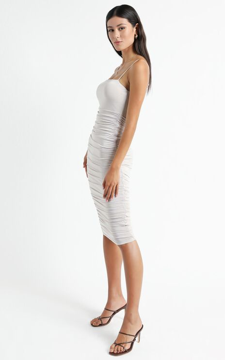 Commit To Me Maxi Dress In Stone