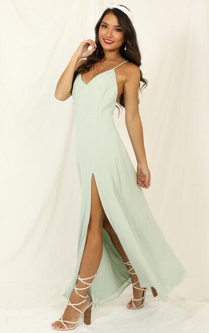 Ibiza Sunset Dress in sage - 14 (XL), Sage, hi-res image number null