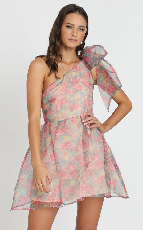 Weekend Dreaming Dress In Pink Floral