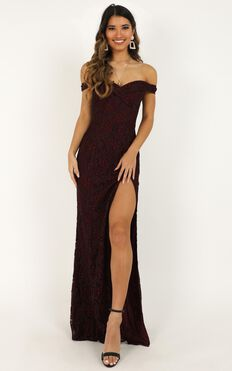 Tell It To The World Dress In Wine Lace