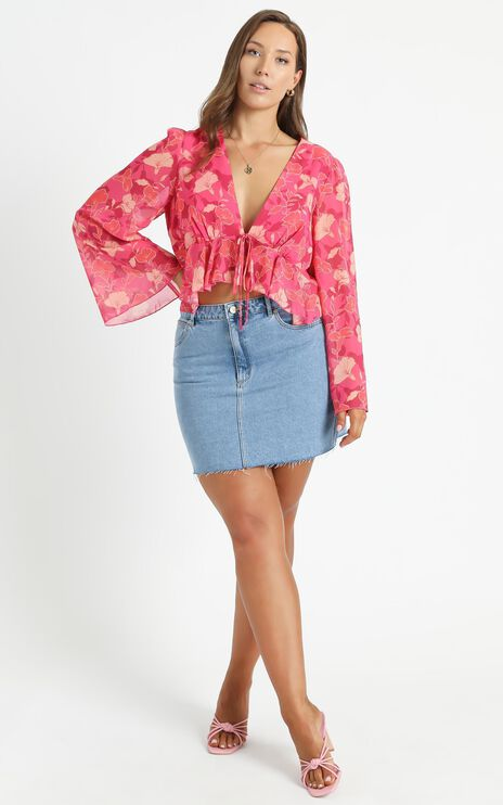 Dance It Out Top in Berry Floral
