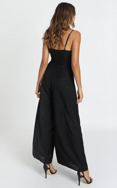 Written In History Jumpsuit In Black