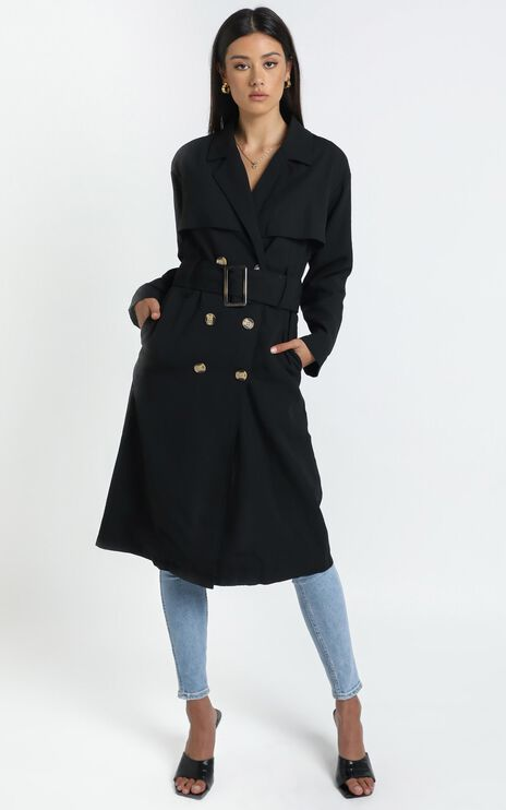 Lana Trench Coat in Black