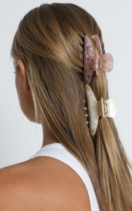 Mermaid Hair Clips in Pink and White