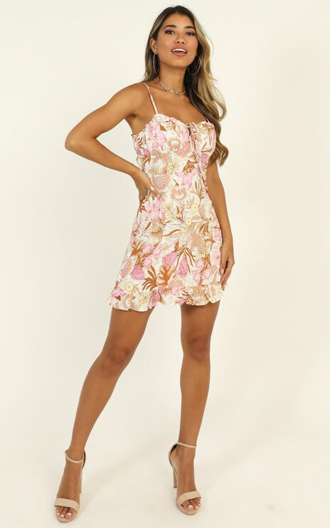 Callie Dress in multi floral