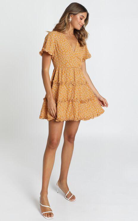 Naomi Dress In Mustard