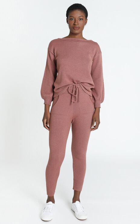 Benny Knit Pants in Dusty Rose