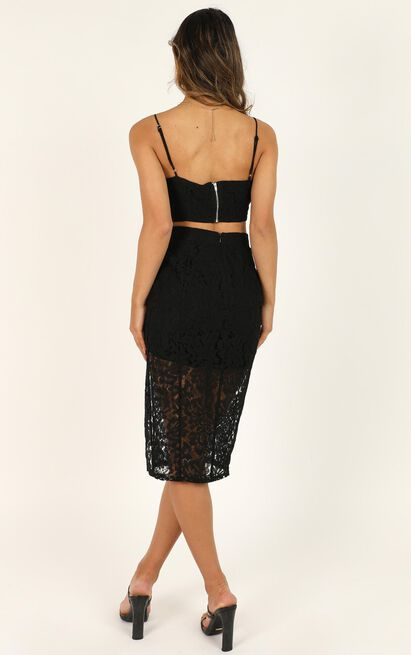 Dancing Alone Tonight Two Piece Set in black lace - 20 (XXXXL), Black, hi-res image number null