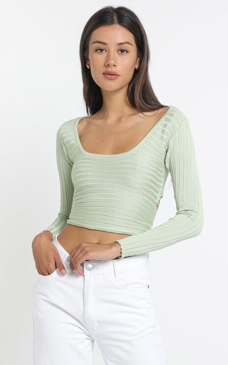 Brennan Knit Top in Sage