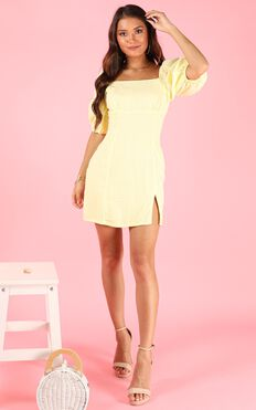 Electric Babe Dress In Lemon