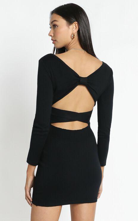 Sonya Knit Dress in Black