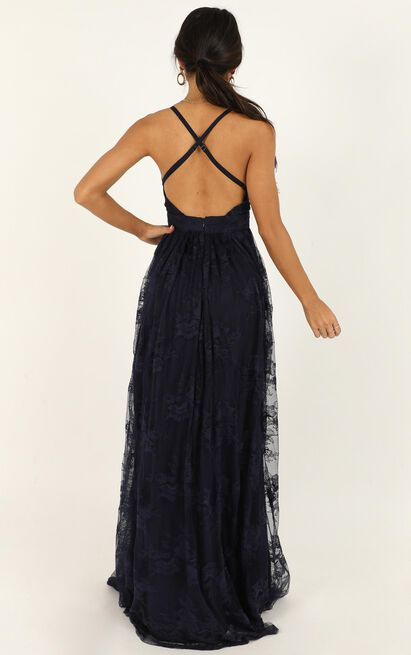 Prom Loving Dress in navy lace - 20 (XXXXL), Navy, hi-res image number null
