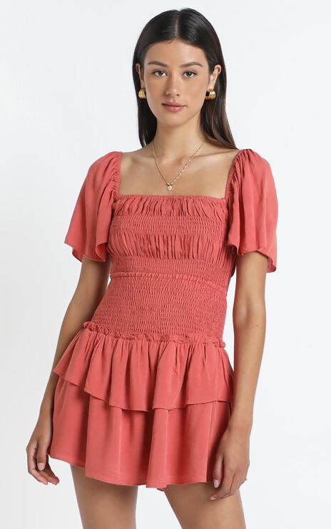 Kloe Skirt in Rust