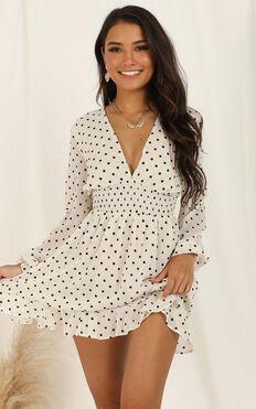 Pretty As You Dress in Cream Spot