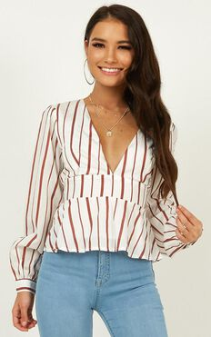 So Much To Give Top In White Stripe