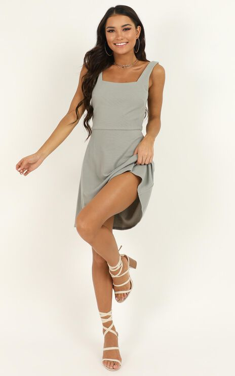 Morning Love Dress In Sage