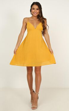Special Mention Dress in yellow spot