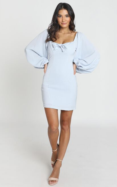 Hydrangea Dress in powder blue - 6 (XS), Blue, hi-res image number null