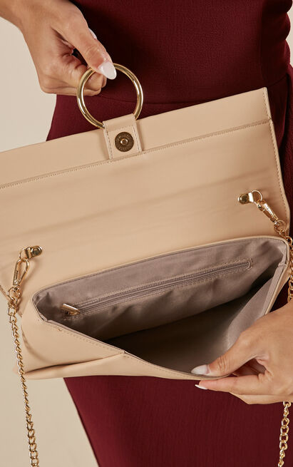 New Love clutch bag in beige, , hi-res image number null
