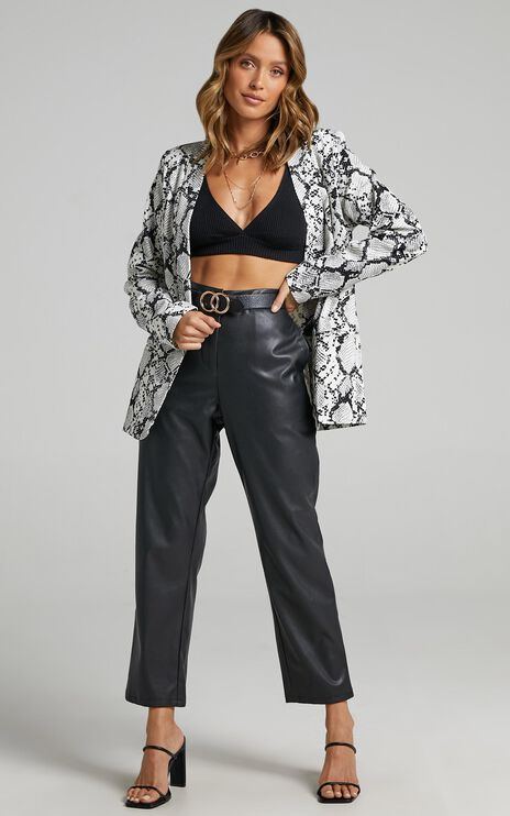 Gloria Jacket In Snake Print
