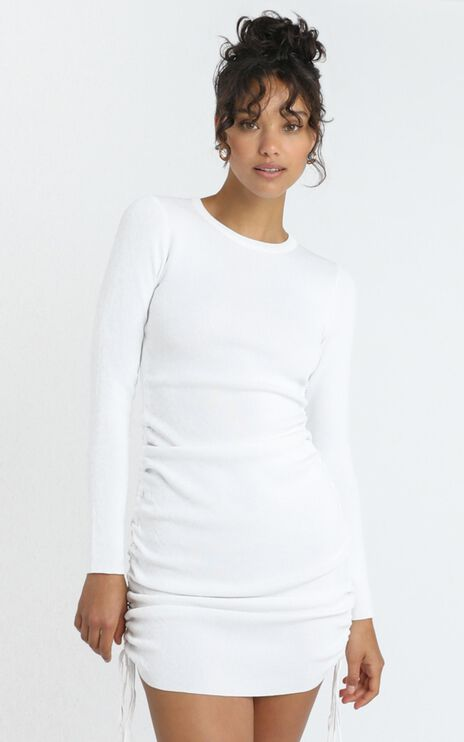 Lioness - Military Minds Long Sleeve Dress in White