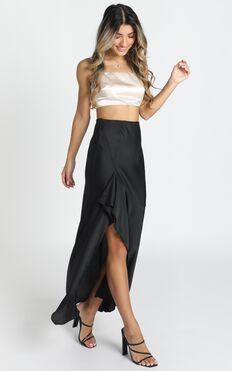 Front Line Skirt In Black
