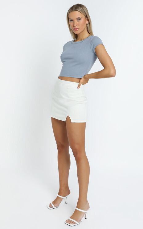 Drea Tee in Powder Blue